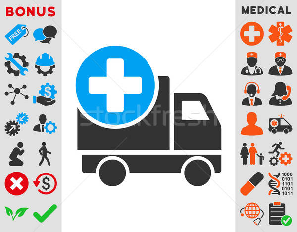 Medical Delivery Icon Stock photo © ahasoft