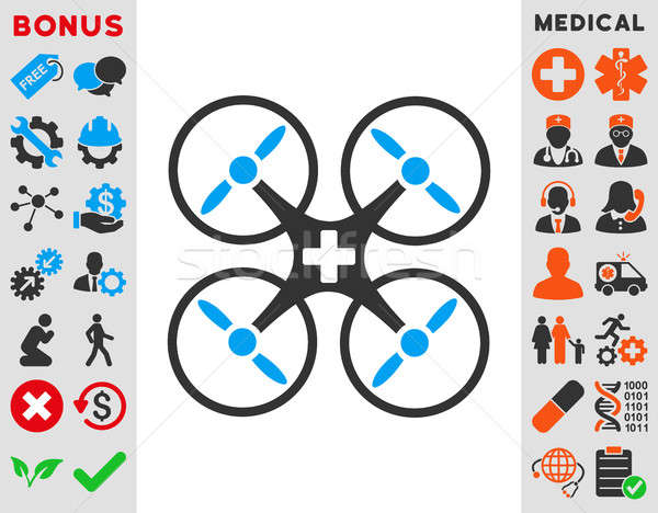 Medical Drone Icon Stock photo © ahasoft
