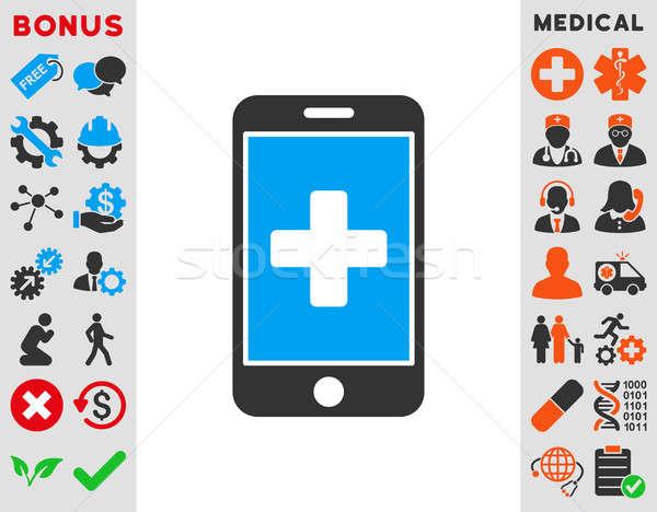 Mobile Medicine Icon Stock photo © ahasoft