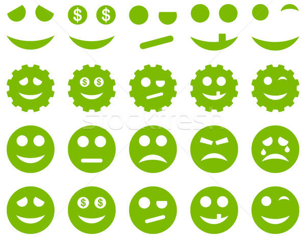 Tools, gears, smiles, emoticons icons Stock photo © ahasoft