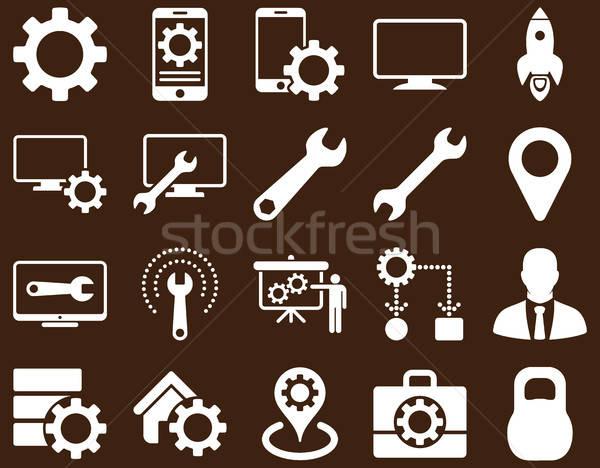 Stockfoto: Tools · iconen · vector · ingesteld · stijl