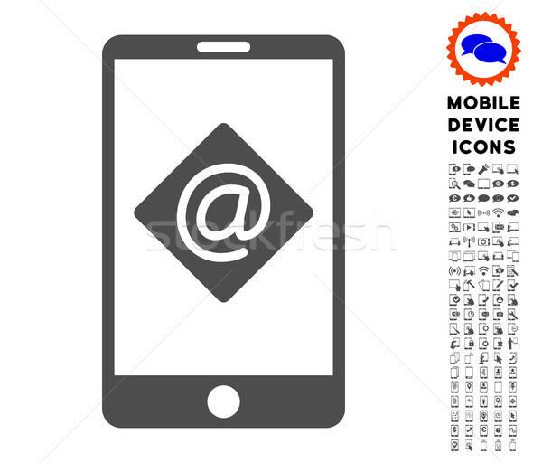 Komórkowych ikona smartphone piktogram Zdjęcia stock © ahasoft