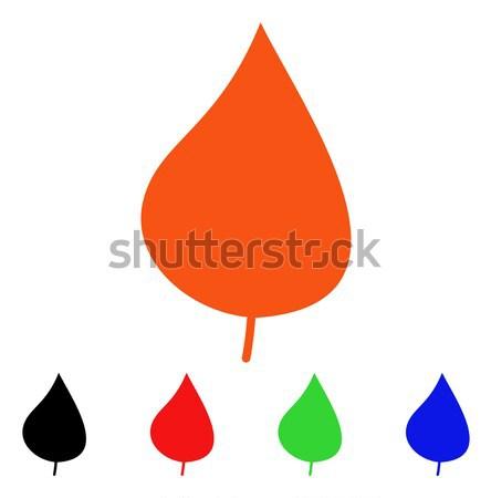 Drop Flat Vector Icon Stock photo © ahasoft