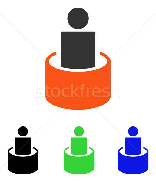 пациент изоляция вектора икона иллюстрация стиль Сток-фото © ahasoft