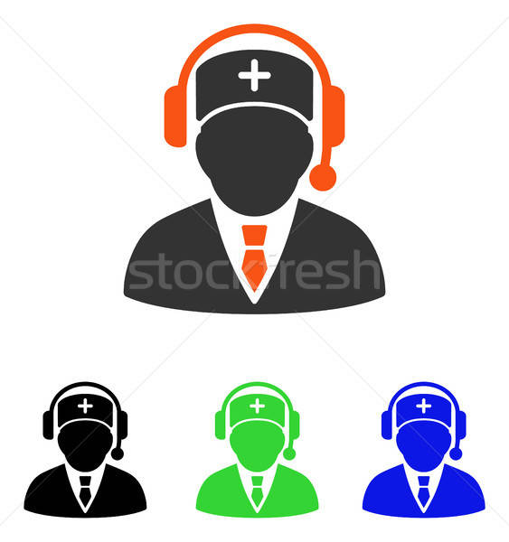 Emergency Manager Flat Vector Icon Stock photo © ahasoft