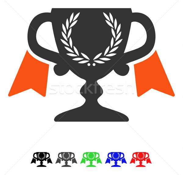 Award Cup Flat Icon Stock photo © ahasoft
