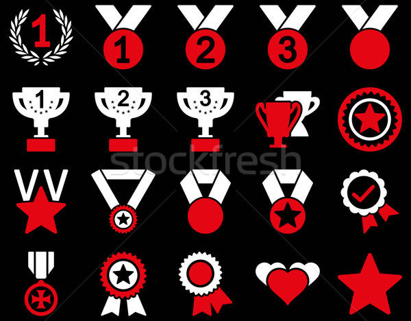 Competition & Success Bicolor Icons Stock photo © ahasoft