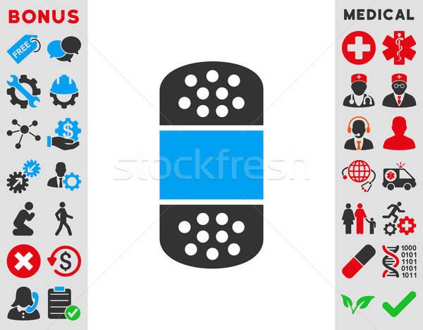 Tapasz ikon vektor stílus szimbólum kék Stock fotó © ahasoft