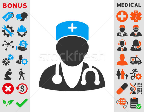 Icon vector stijl symbool Blauw Stockfoto © ahasoft