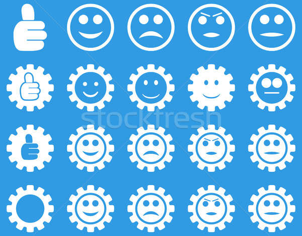 улыбка передач иконки набор стиль Сток-фото © ahasoft