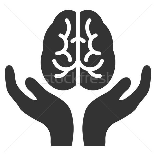 Brain Care Hands Vector Icon Stock photo © ahasoft