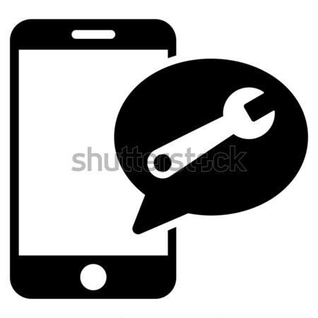 Smartphone Setup Wrench Flat Raster Icon Stock photo © ahasoft