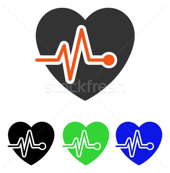 Heart Pulse Flat Vector Icon Stock photo © ahasoft