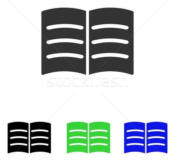 Livre Ouvert Vecteur Icone Pictogramme