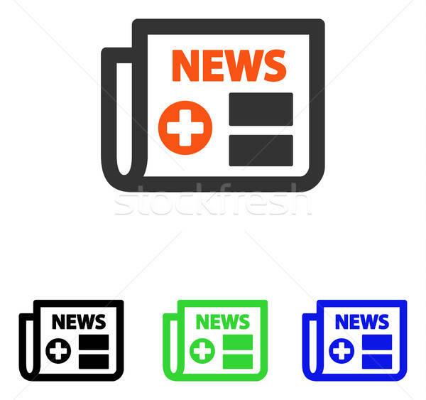 Medical Newspaper Flat Vector Icon Stock photo © ahasoft