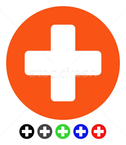 Create Cross Flat Icon Stock photo © ahasoft