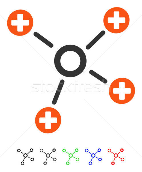 Health Care Links Flat Icon Stock photo © ahasoft