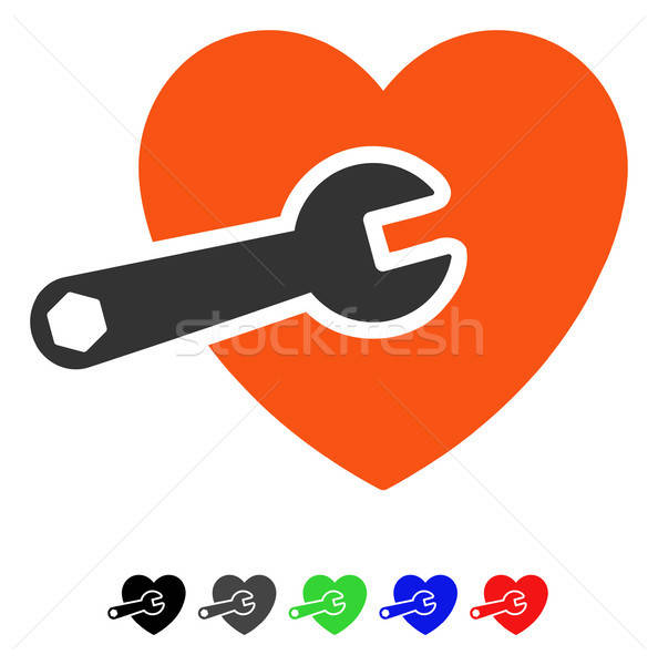 Stock photo: Heart Surgery Flat Icon