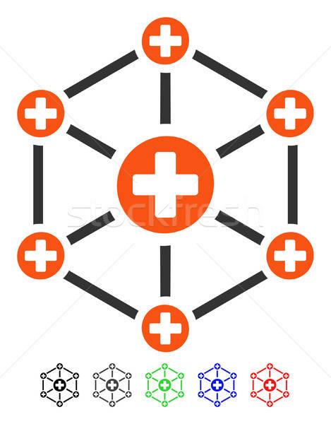 Medical Network Flat Icon Stock photo © ahasoft