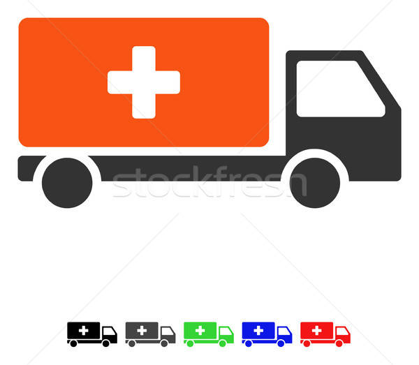 Medical Shipment Flat Icon Stock photo © ahasoft