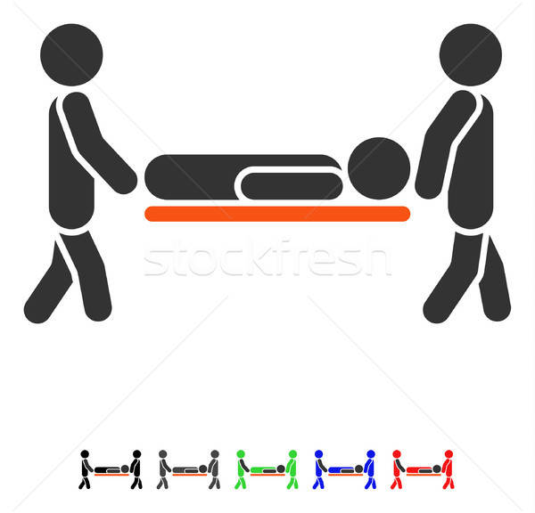 Patient Stretcher Flat Icon Stock photo © ahasoft