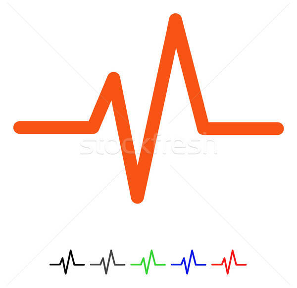 Pulse Flat Icon Stock photo © ahasoft