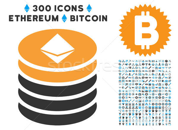 Pièce icône clipart bitcoin puce Photo stock © ahasoft