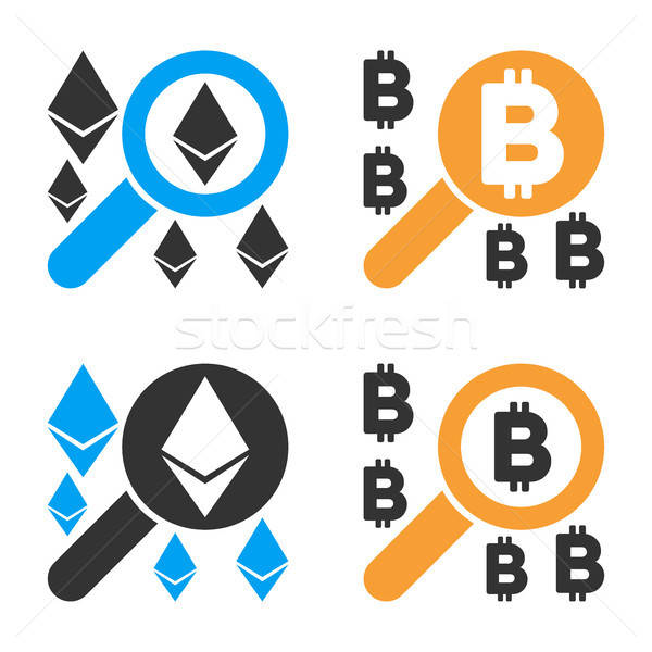 Find Cryptocurrency Vector Icon Set Stock photo © ahasoft