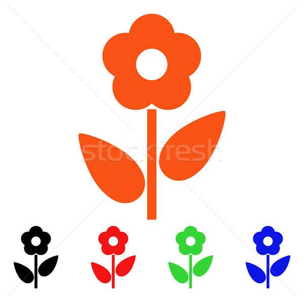çiçek bitki vektör ikon stil ikonik Stok fotoğraf © ahasoft