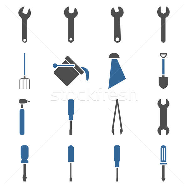 Instruments and tools icon set Stock photo © ahasoft