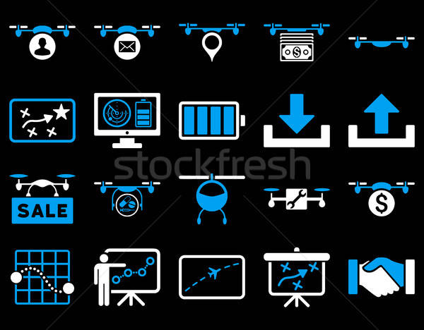 Stock photo: Air drone and quadcopter tool icons