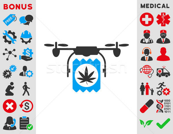 Drugs Drone Delivery Icon Stock photo © ahasoft