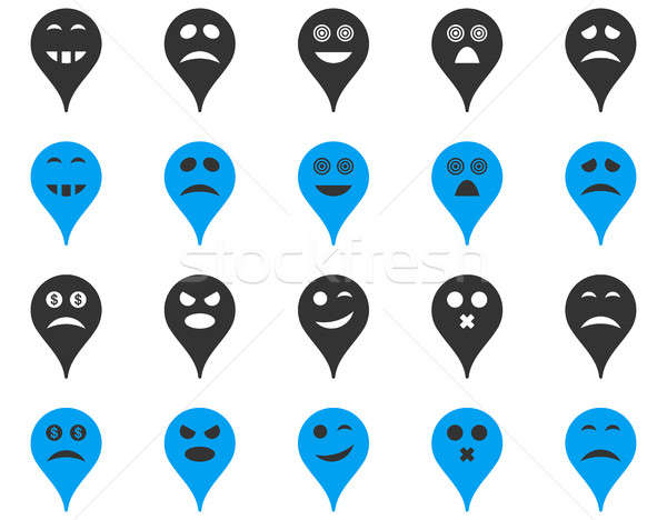 Emotion map marker icons. Stock photo © ahasoft