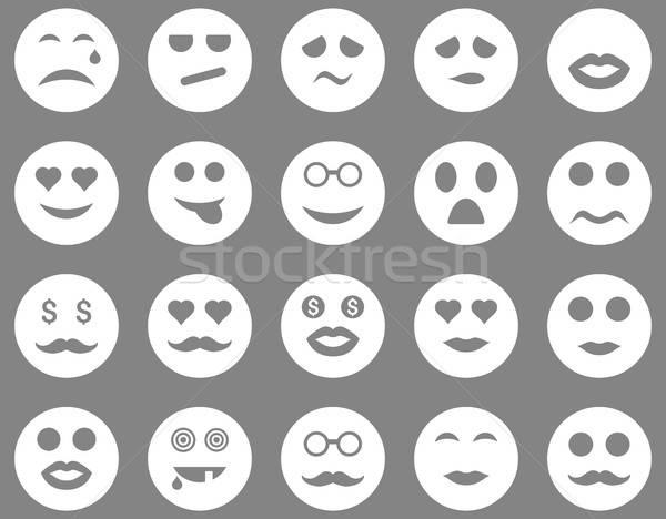 Smile and emotion icons Stock photo © ahasoft