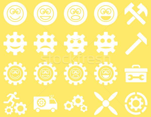 Outils sourire engins icônes vecteur Photo stock © ahasoft