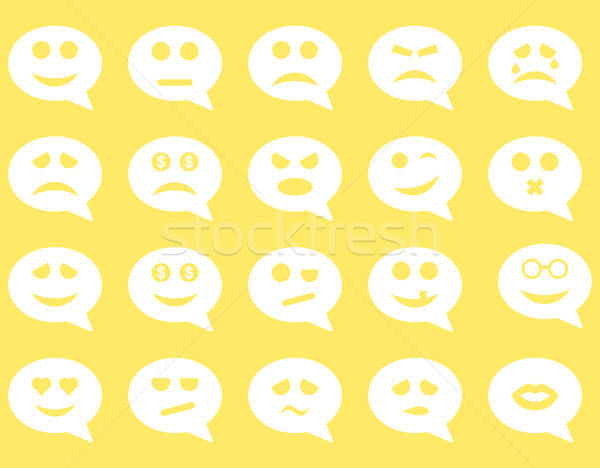 Stock photo: Chat emotion smile icons