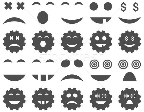 Herramienta artes sonrisa emoción iconos vector Foto stock © ahasoft