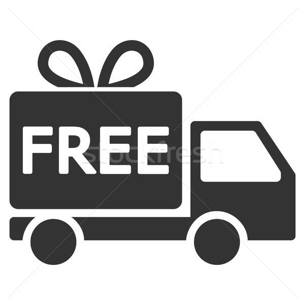 Free Delivery Vector Icon Stock photo © ahasoft