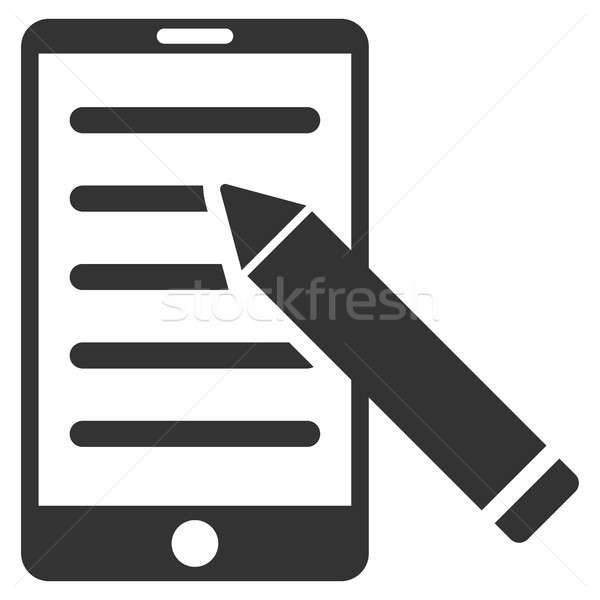 Mobile Edit Pencil Flat Raster Icon Stock photo © ahasoft