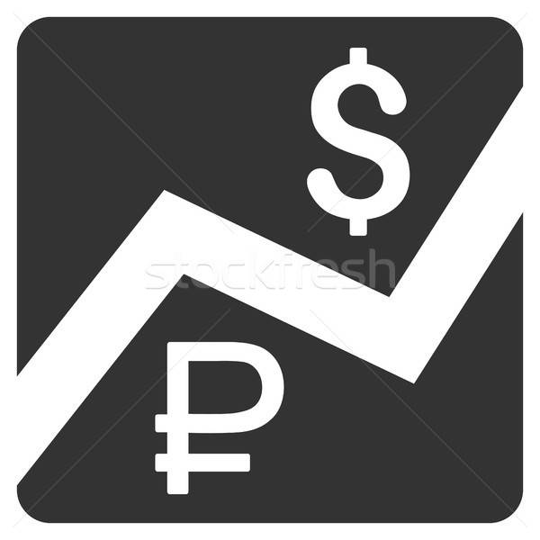 Rouble And Dollar Finances Icon Stock photo © ahasoft