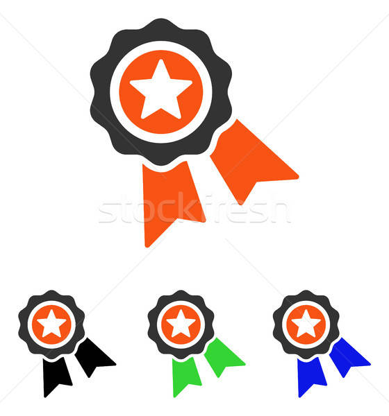 Quality Seal Flat Vector Icon Stock photo © ahasoft