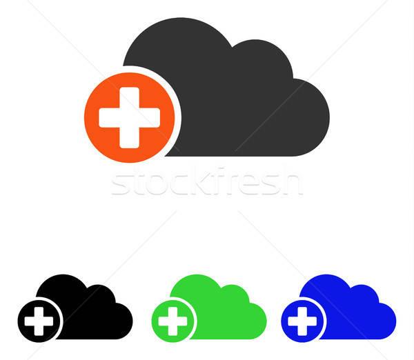 Nube vector icono ilustración estilo Foto stock © ahasoft