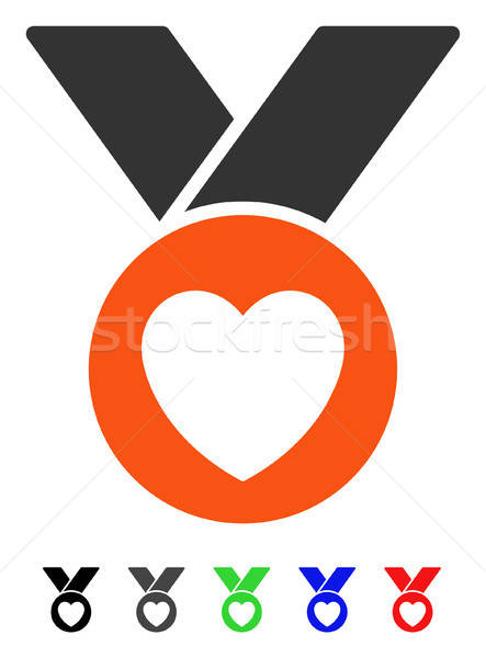 チャリティー 金メダル アイコン ベクトル 色 ストックフォト © ahasoft