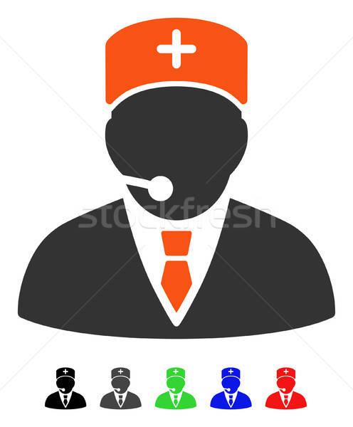 Medische manager icon vector gekleurd kleur Stockfoto © ahasoft