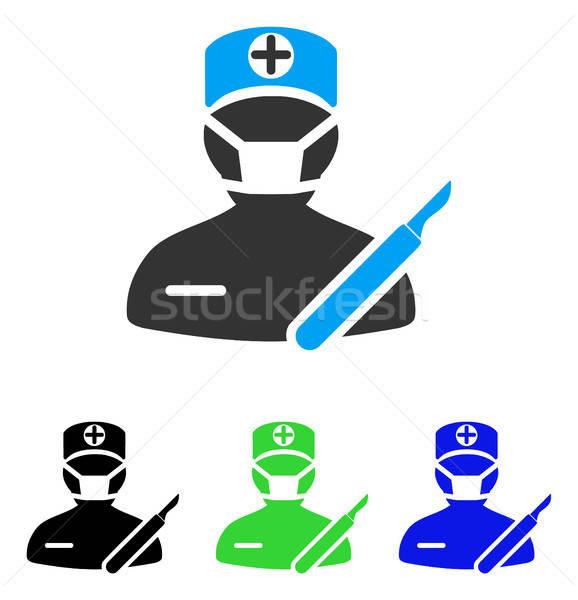 Chirurgie icon vector pictogram stijl grafische Stockfoto © ahasoft