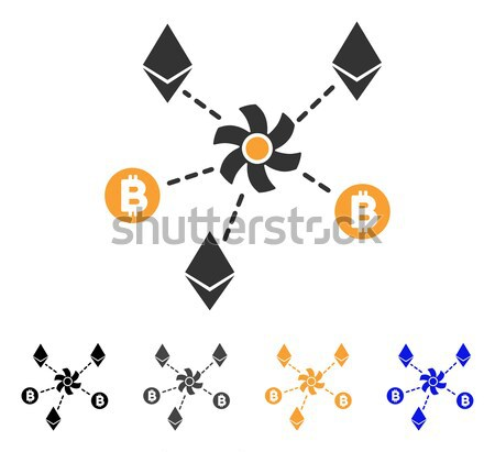 Cryptocurrency Mixer Rotor Flat Icon Stock photo © ahasoft