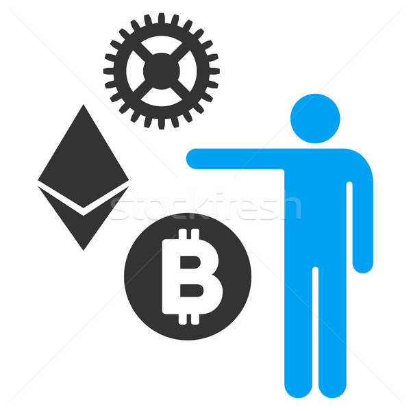 Person Show Cryptocurrency Flat Icon Stock photo © ahasoft