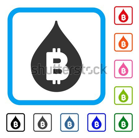 Bitcoin Laundering Shower Flat Icon with Clip Art Stock photo © ahasoft