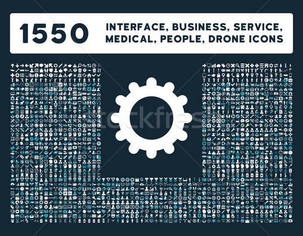 Interface business tools mensen medische Stockfoto © ahasoft