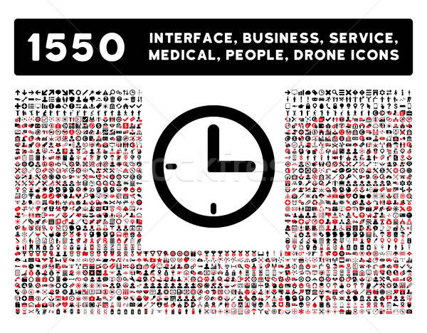 Stock photo: Time Icon and More Interface, Business, Tools, People, Medical, Awards Flat Vector Icons